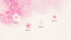 Dream beautiful and elegant pink watercolor PPT Templates