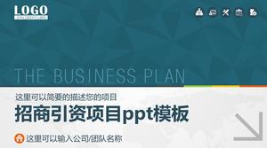Investment promotion project ppt template