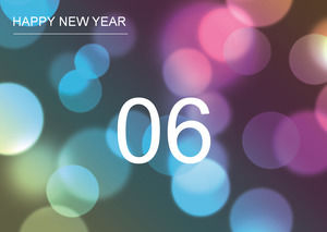 10 seconds countdown 2014 New Year fireworks bloom ppt effects template