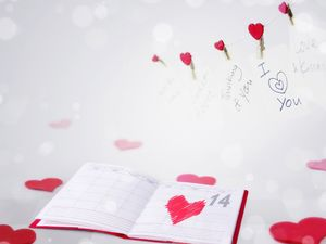 2.14 Valentine's Day diary background picture