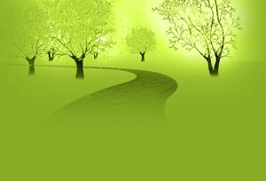 5 green series ppt background picture
