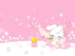 9 beautiful pink cute cartoon background pictures