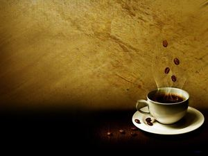 A cup of hot coffee - brown nostalgic background pictures