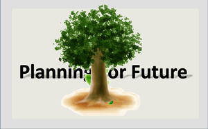 A small sapling growing ppt animation template