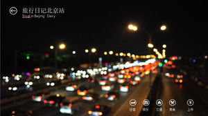 Beijing travel diary ios style ppt template