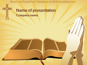 Bible cross ppt template