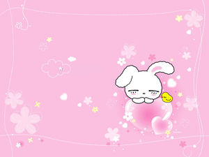 Big ears rabbit love pink background image