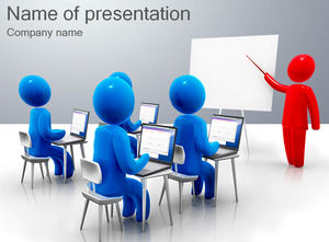Blue 3D villain business training ppt template