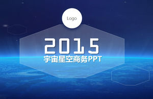 Blue earth vast universe simple business ppt template