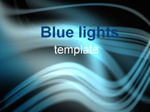 Blue glare background template