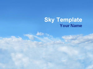 Blue sky and white clouds ppt template