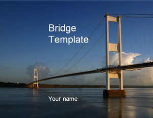 Bridge construction professional ppt template