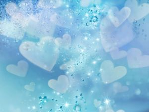 Bright diamond heart pattern background picture