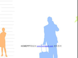 Business hollow characters moving animation ppt template