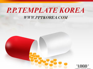 Capsule Drugs Deep Gray Red Work Report ppt Template