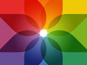 Color overlay colorful background IOS7 theme picture