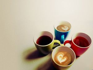 Colorful coffee ppt background picture
