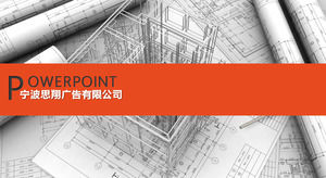 Construction project design project work report ppt template
