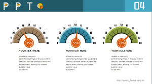 Creative car speed dashboard parallel relationship ppt chart