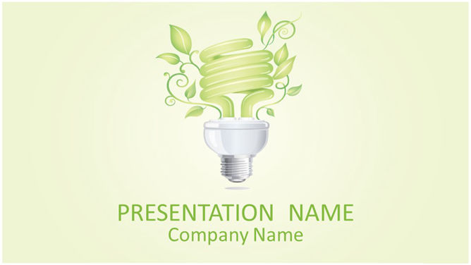 Creative green energy slideshow templates