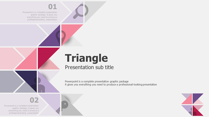 Creative triangular design theme PPT Templates