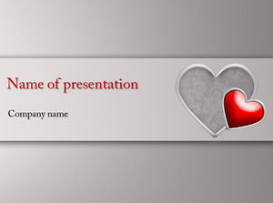 Crystal Heart PPT Love Template