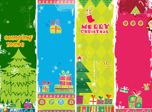 Dazzling colorful Christmas animation ppt template