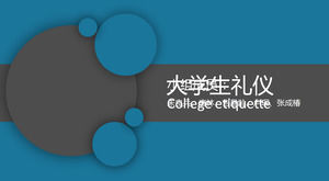 Dynamic circle creative seamlessly switch college students etiquette ppt template