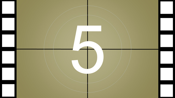 Dynamic five seconds countdown to the opening PPT Templates