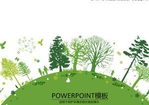 Earth Our common good home - protect the environment green theme ppt template