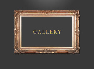 European and American style painting art frame ppt material template