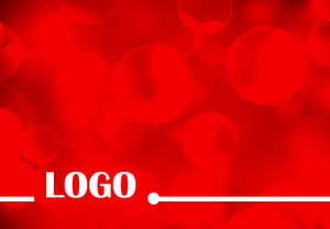 Festive Chinese red background ppt template