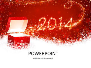 Festive Red Christmas ppt template