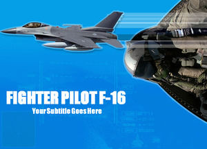 Fighter military theme ppt template