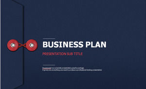 File bag and document paper creative exquisite business ppt template
