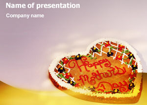 Give your mother's love cake - Mother's Day blessing ppt template