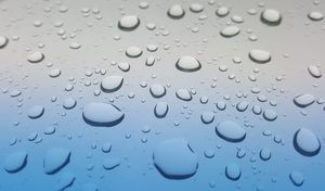 Glass water droplets on the high-definition effects picture