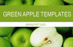 Green apple fruit ppt template