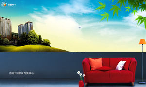 Green natural living environment - real estate company ppt template