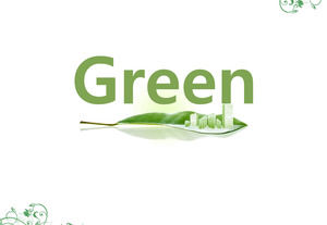 Green on the high-rise buildings - Green modern urban environmental protection ppt template