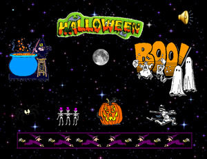 Halloween spoof game ppt template