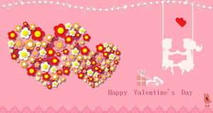 Happy Valentine's Day 2015 Smart Valentine's Day greeting card ppt template