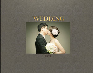 High-end simple wedding album ppt template