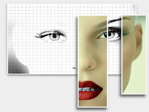 Image stereo transformation effects ppt template