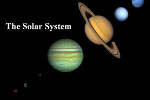 Introduction of the solar system European and American wind ppt template