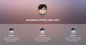 IOS system UI style titles animation ppt template