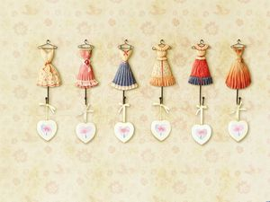 Korea cute clothing frame background picture