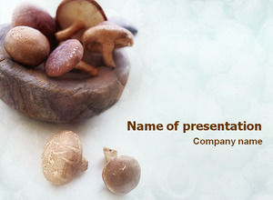 Lentinus edodes ppt template