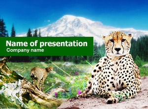 template ppt animale - Leopard