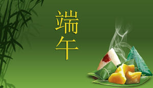 Love Dragon Boat Festival Dumplings Dragon Lotus ppt template